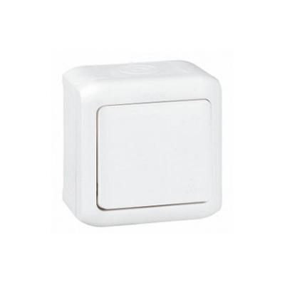 Forix IP44 falon kívüli egypólusú nyomó 6 A - 250 V~ fehér