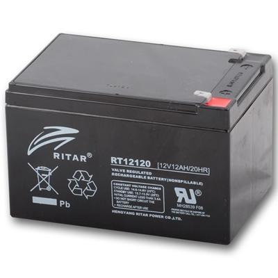 Ritar RT12120-F2 12V 12Ah zárt ólomakkumulátor SZÜNETMENTES ÁRAMFORRÁSOKHOZ UPS Riasztó akkumulátor