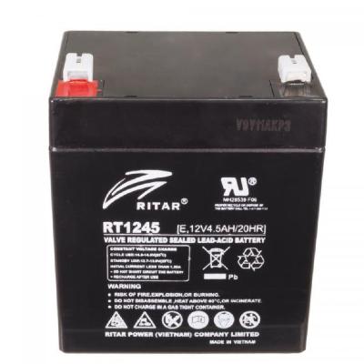 Ritar RT1245E-F1 12V 4,5Ah zárt ólomakkumulátor Riasztó rendszerekhez