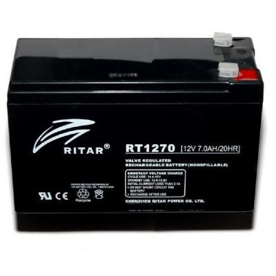 Ritar RT1270ES-F1 12V 7Ah zárt ólomakkumulátor RIASZTÓ RENDSZERKHEZ