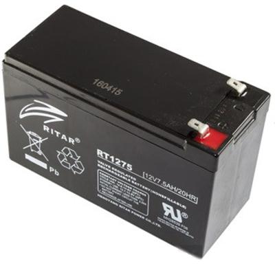 Ritar RT1275-F2 12V 7,5Ah zárt ólomakkumulátor Riasztó berendezésekhez