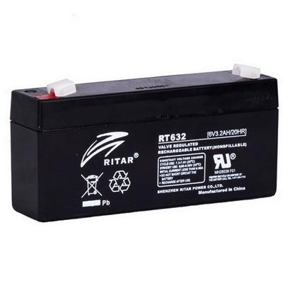 Ritar RT632-F1 6V 3,2Ah zárt ólomakkumulátor ELEKTROMOS JÁRMŰAKKUS LP.PARKOLÓÓRA Riasztó akkumulátor