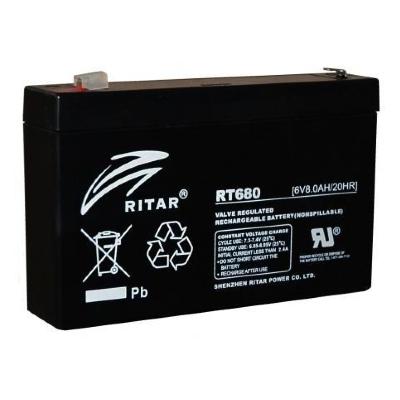 Ritar RT680-F1 6V 8Ah zárt ólomakkumulátor ELEKTROMOS JÁRMŰ,AKKUS Lámpa,PARKOLÓÓRA, Riasztó berendezések