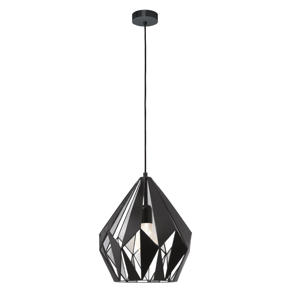 Függeszték E27 60W fekete/ezüst