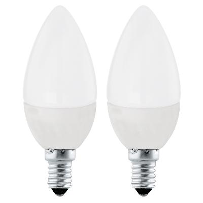 LED-es fényforrás gyertya E14 2x4W