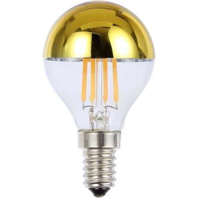 LED fényforrás, Filament, D:45, H:79,  1xE14 ILLU 4W 230V, 380lm, 2700K