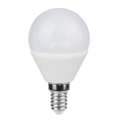 Fényforrás LED, Műanyag opál. fényerő-szabályozható.  O:45, H:80, inkl. 1xE14 ILLU 5W 230V,  400lm,  4000K