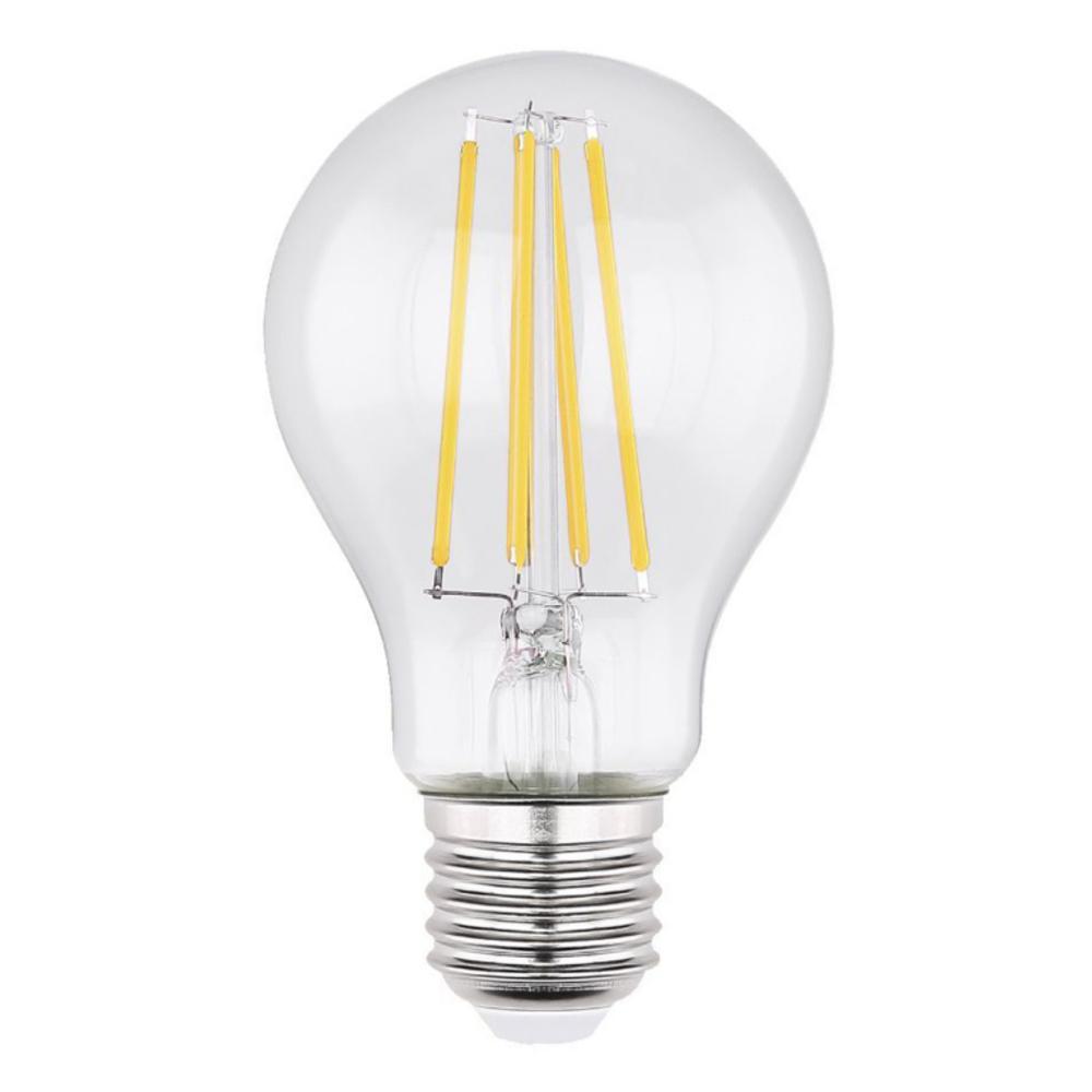 LED Fényforrás, átlátszó üveg búra, filament szál.  O:60, H:106, inkl. 1xE27 LED 6W 230V,  806lm, 2700K