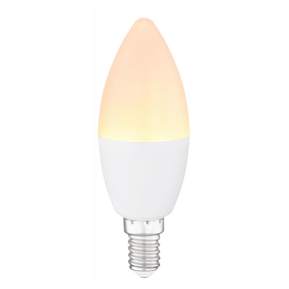 LED Fényforrás opál műanyag búrával.  O:37, H:100, inkl. 1xE14 LED 4W 230V, 300lm, , 3000K