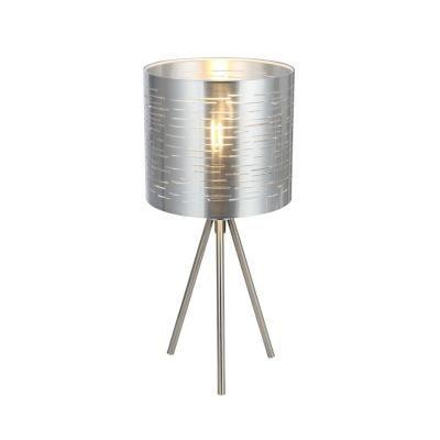 Asztali lámpa fém nikkel matt-ezüst. O:170, exkl. 1xE14 40W 230V