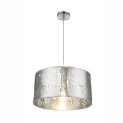 nikkel matt váz,ezüst plasztik búra, D:400, H:1400, Foglalat típusa:1xE27 40W 230V
