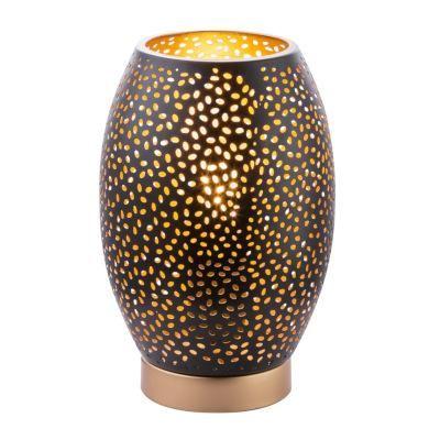 Asztali lámpa fém fekete-arany színben. O150, H:230, exkl. 1xE27 40W 230V
