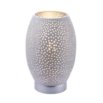 NARRI Asztali E27 40W fehér-ezüst