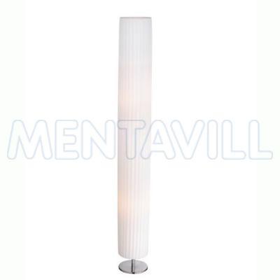 Állólámpa króm, textil fehér,  D:150, H:1190, exkl. 2xE27 40W 230V