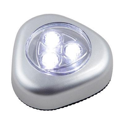 Éjszakai fény 3x0,21W LED touchdimmer, elemmel  3xAAA 1,5V, LxBxH:65x26x67, inkl. 3xLED 0,21W 5V, 20lm, 6400K