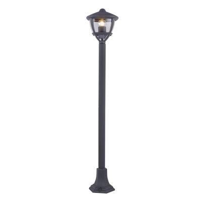 Kültéri állólámpa  alumínium antracit szürke, műanyag búrával.  IP44, LxBxH:175x175x1000, exkl. 1xE27 40W 230V
