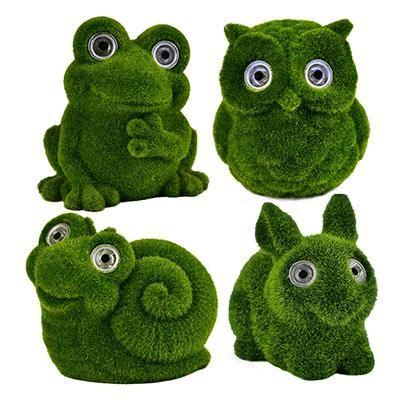 SOLAR zöld állatok,nyuszi,bagoly,c