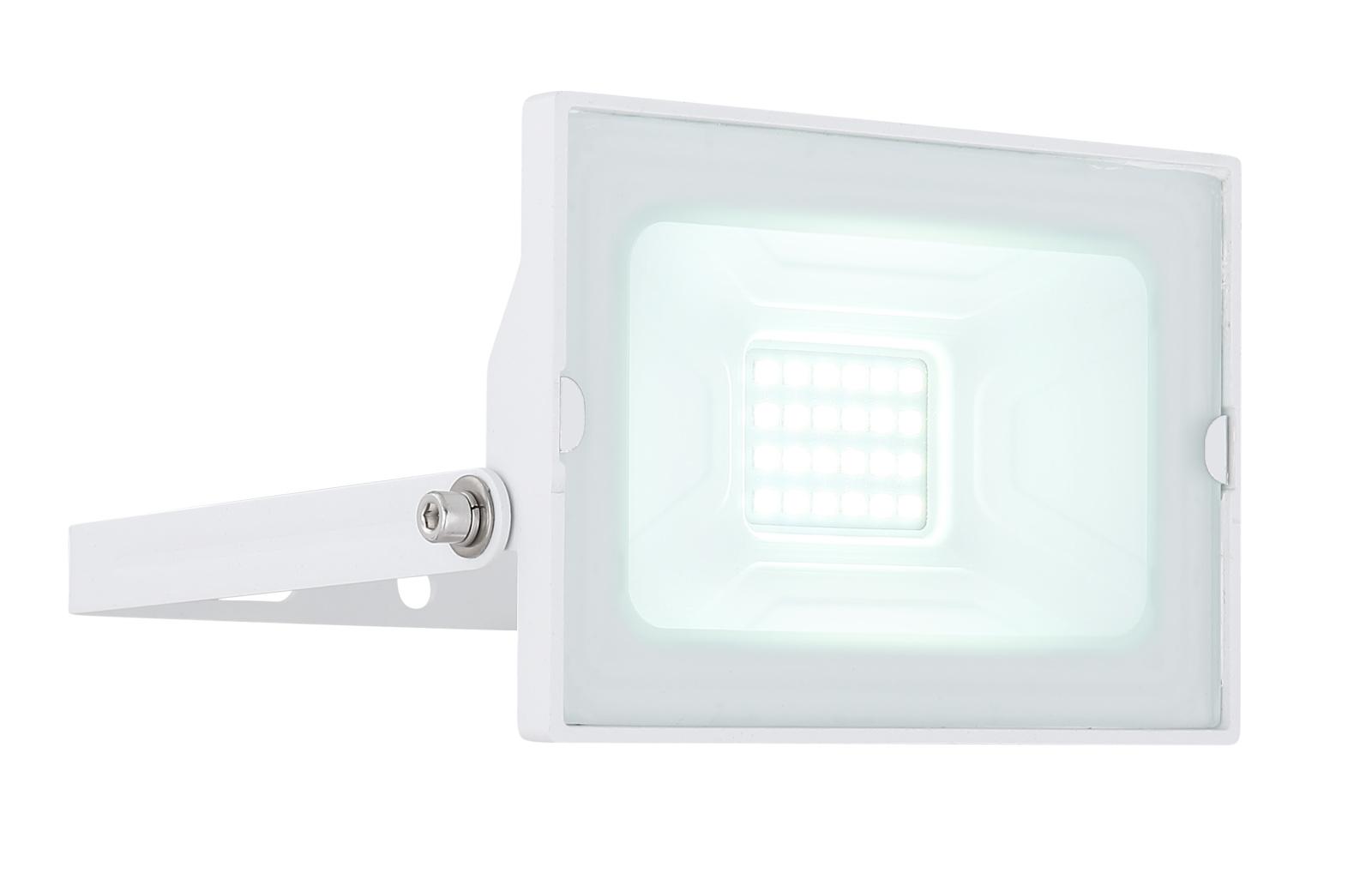 Kültéri reflektor fekete alumínium, üveg búrával.  IP65 inkl. 1xLED 20W 230V, 1500lm, 6000K
