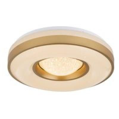 Mennyezeti lámpa metál fehér, akril opál aranyozott, D:410, H:100, Tartozéka: 1xLED 24W 230V, 1000lm, 3000K