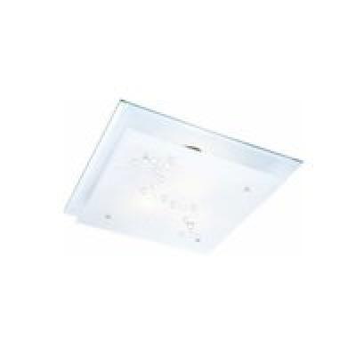 Mennyezeti króm,tükör,üveg, LxBxH:240x240x85, exkl. 1xE27 ILLU 60W 230V