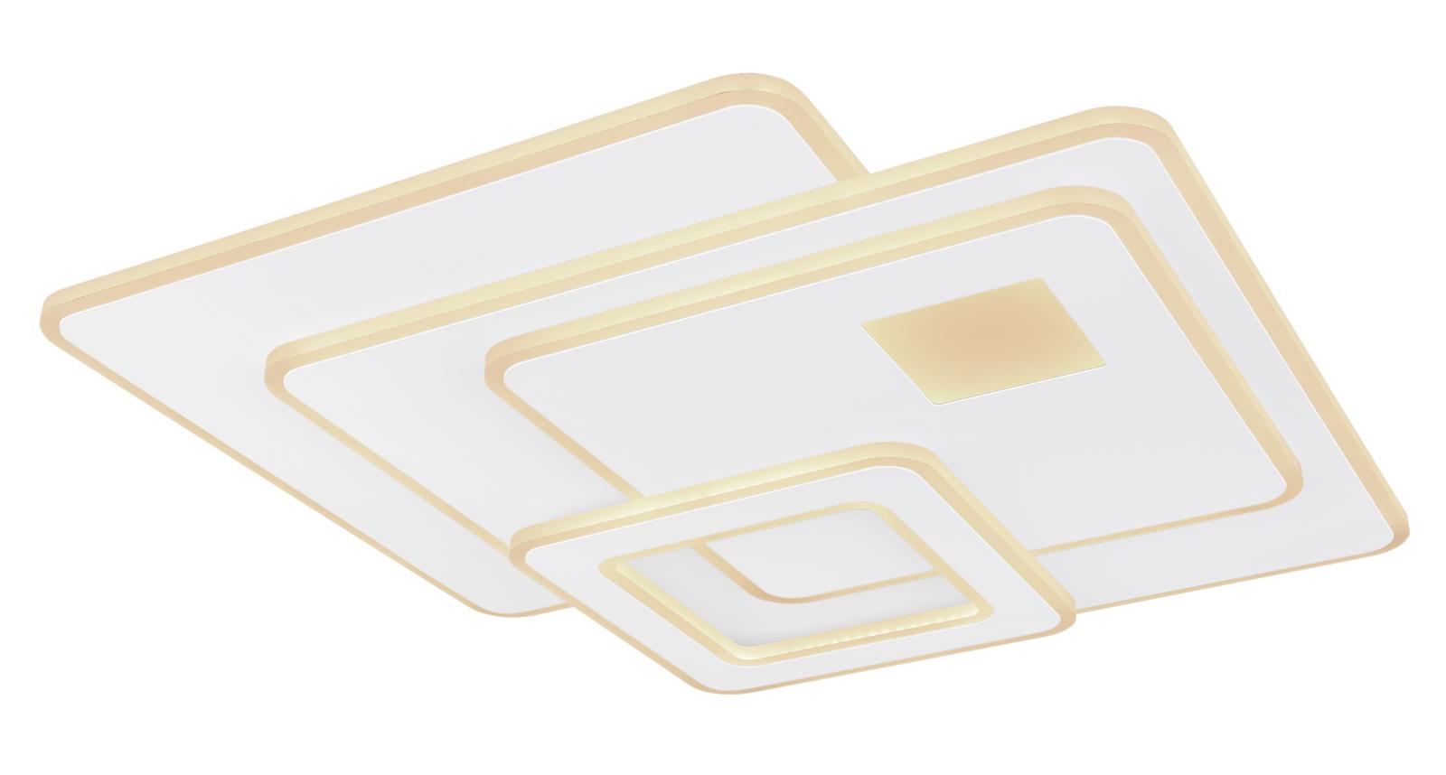 Mennyezeti lámpa fém fehér alaplap, akril opál búrával LED 75W 230V,  4900lm, 3000-6000K