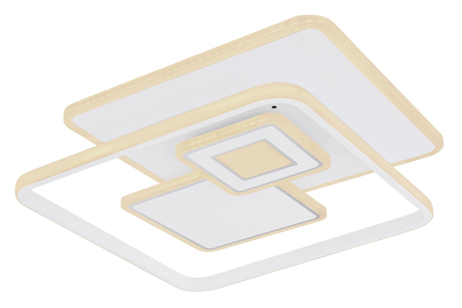 Mennyezeti lámpa fém fehér alaplap, akril opál búrával inkl. 1xLED 50W 230V,  3400lm
