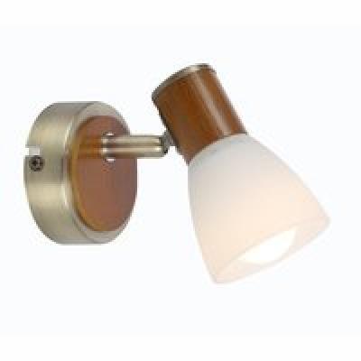bronz és fa váz, opál üveg búra, BxH:80x115, AL:130, exkl. 1xE14 40W 230V