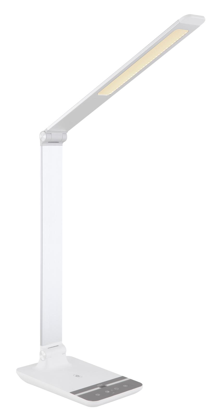 Asztali lámpa  ezüst alumínium és műanyag anyagokból LED 9W 230V,650lm, 3000-4500-6000K