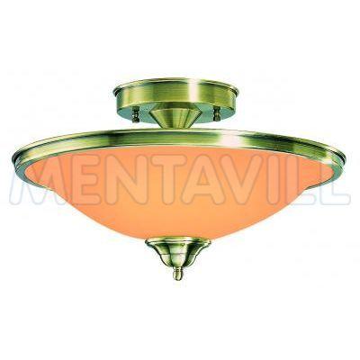 Mennyezeti, bronz,, üveg gyertyán sárga D:410, H:260, exkl. 2xE27 60W 230V
