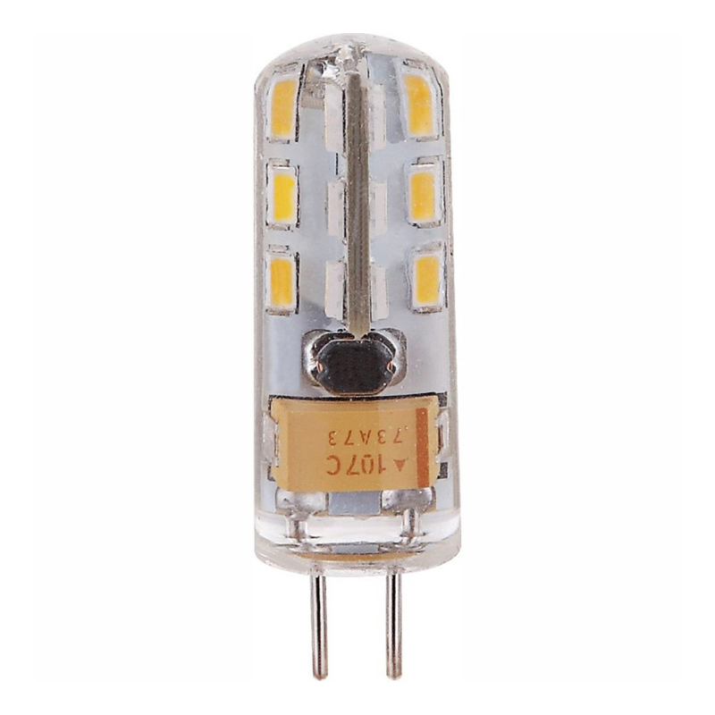 Fényforrás LED,  D:10, H:36, inkl. 1xG4 1,5W 12V, 100lm, 3000K