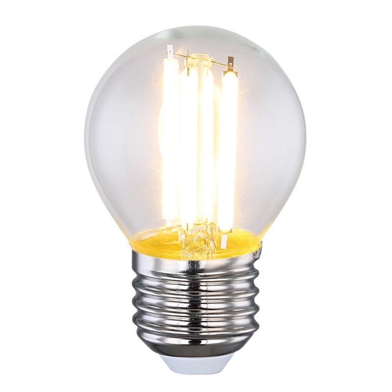 Fényforrás LED üveg búrával. :45, H:72, E27 LED 6W 230V, 2700K