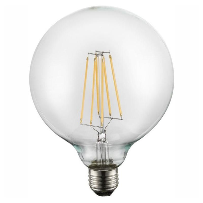 Fényforrás LED átlátszó, GLOBE LED Filament, D:125, H:175, inkl. 1xE27 LED 10W 230V, 1000lm, 3000K