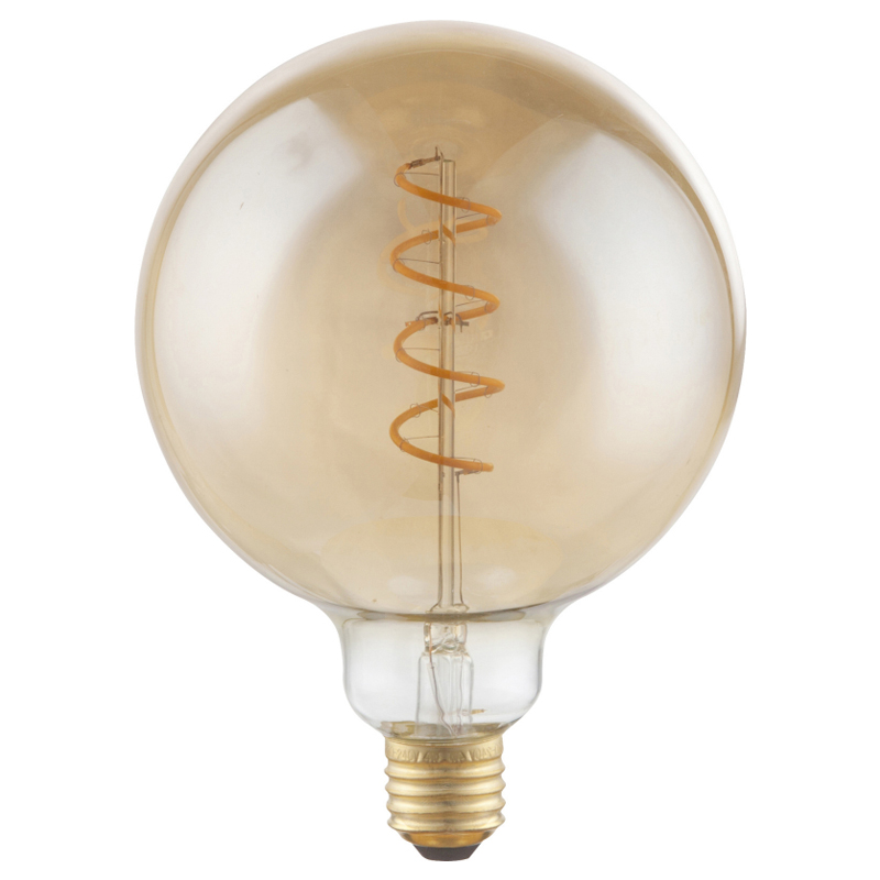 Fényforrás LED,  D:125, H:170, inkl. 1xE27 LED 4W 230V, 200lm, 2000K