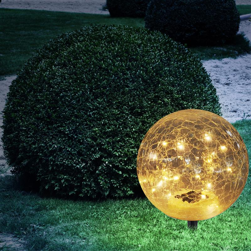 SOLAR áttetsző gömb,15×0,06W LED,D