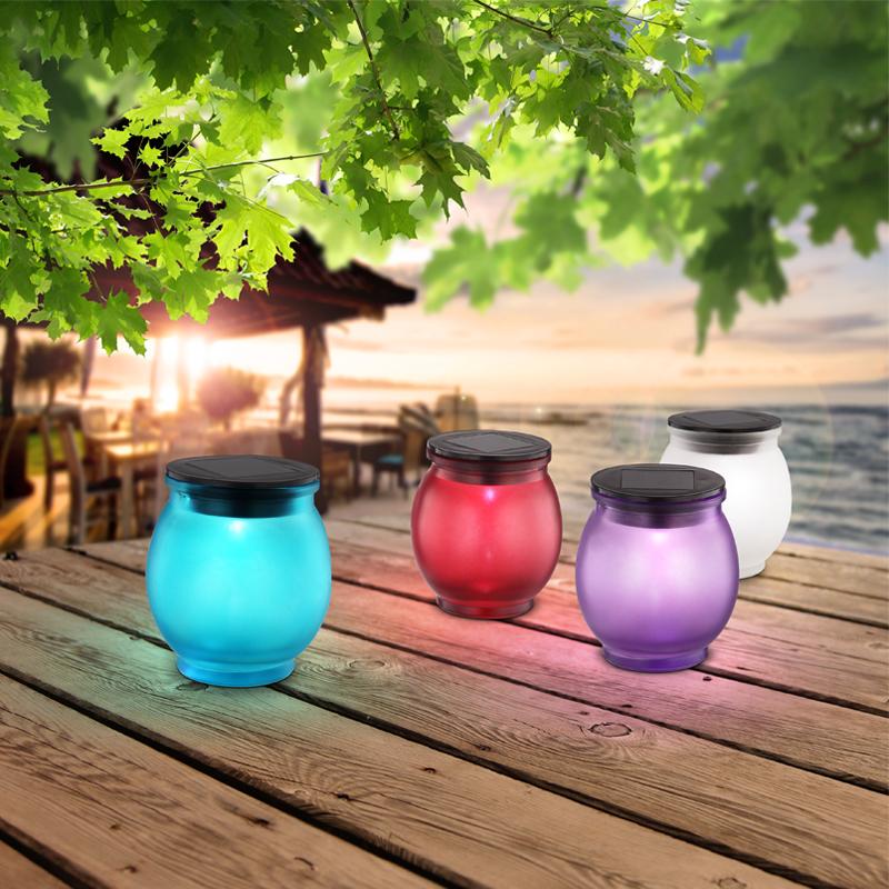 SOLAR műanyag üvegek. IP44, 1 x AA