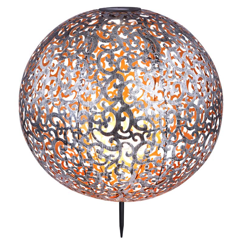 SOLAR leszúrható fém gömb,IP44,LED*