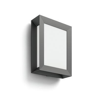 Karp kültéri fali lp.antracit 1×6W
