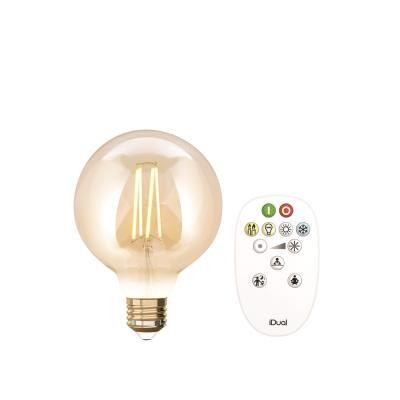 LED 9W E27 GLOB+TÁV IDUAL FILAMENTS