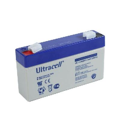 Ultracell 6V 1,3Ah gondozásmentes akkumulátor biztonságtechnikai rendszerekhez