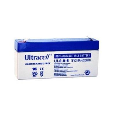 Ultracell 6V 2,8Ah gondozásmentes akkumulátor biztonságtechnikai rendszerekhez
