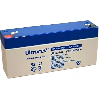 Ultracell 6V 3,4Ah gondozásmentes akkumulátor biztonságtechnikai rendszerekhez