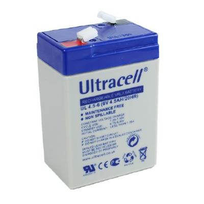 Ultracell 6V 4,5Ah gondozásmentes akkumulátor biztonságtechnikai rendszerekhez