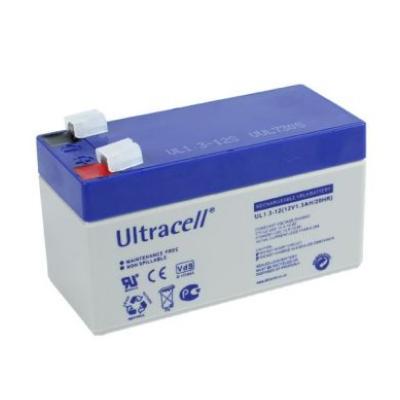 Ultracell 12V 1,3Ah gondozásmentes akkumulátor biztonságtechnikai rendszerekhez