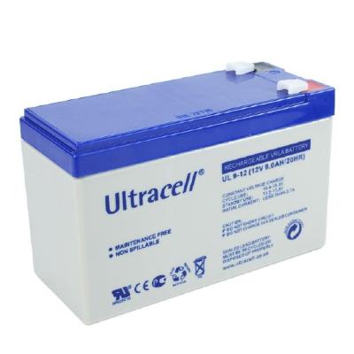 Ultracell 12V 9,0Ah gondozásmentes akkumulátor biztonságtechnikai rendszerekhez