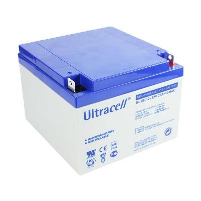 Ultracell 12V 26,0Ah gondozásmentes akkumulátor biztonságtechnikai rendszerekhez