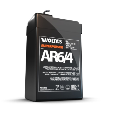 6V feszültségű, 4 Ah kapacitású zárt savas/zselés ólom akkumulátor