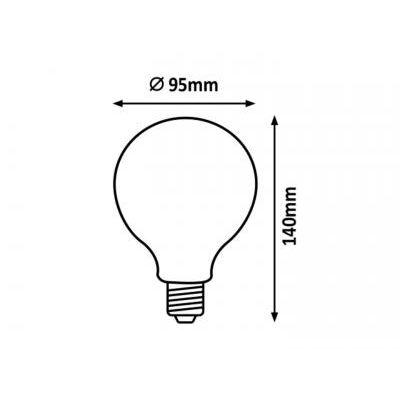 FilamentLED E27G95 8W 1055lm 2700K