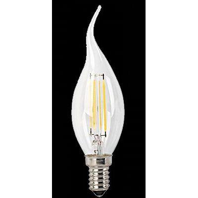 LED E14 4W láng gyertya 2700K 450lm