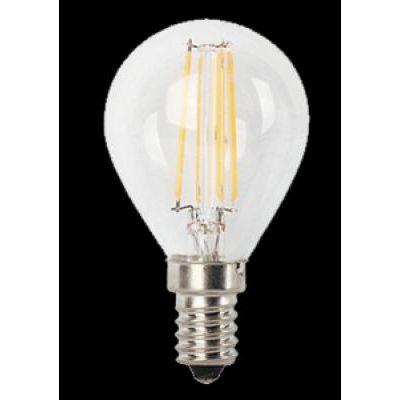 LED E14 4W gömb filament 450lm@