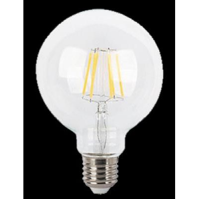 LED E27 7W glob filament 850lm2700K
